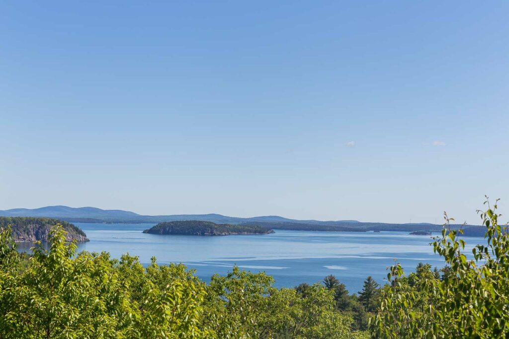 view from acadia national park of the water