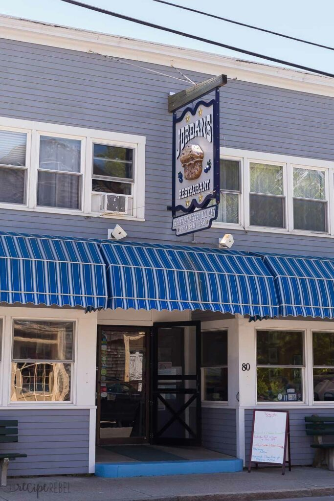 jordon's restaurant in bar harbor maine exterior