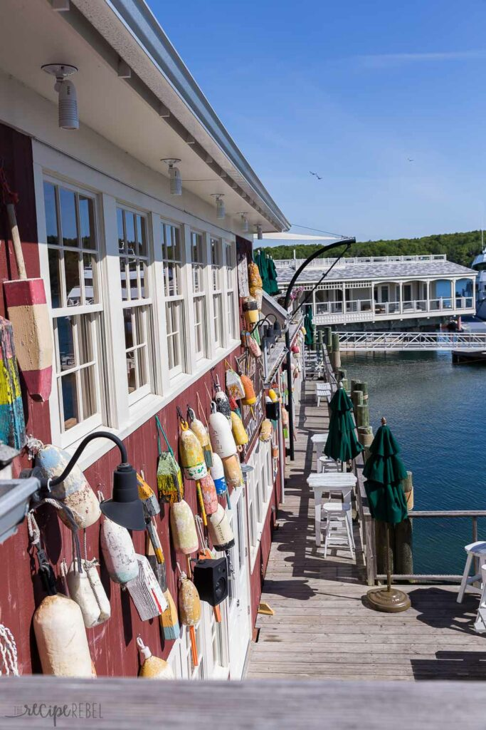 stewman's lobster pound on the water in bar harbor maine
