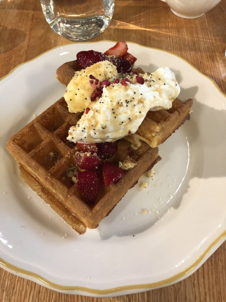 waffle at clementine in winnipeg
