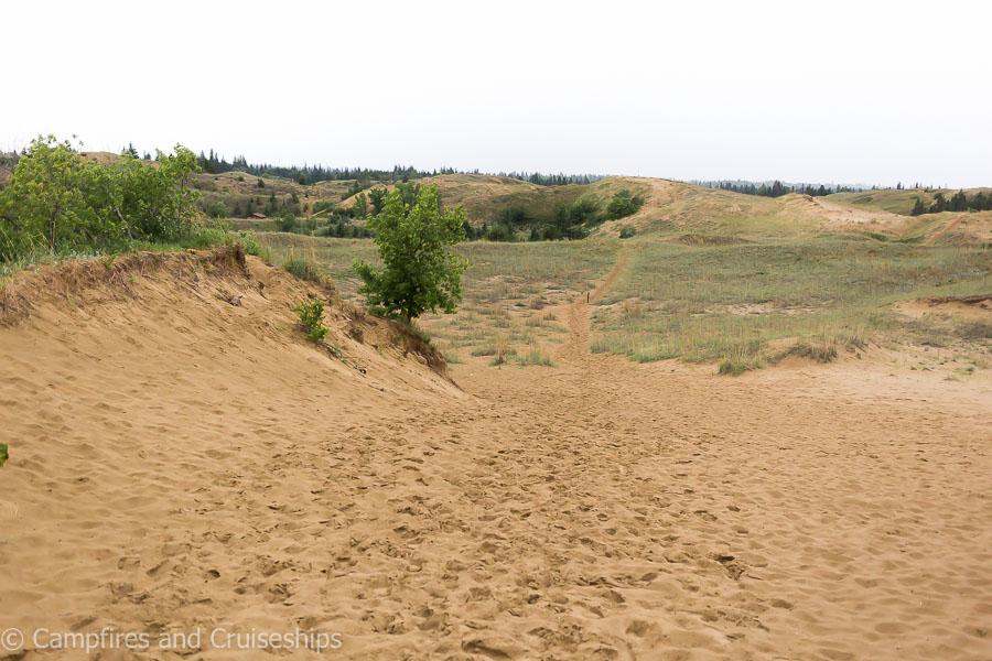spirit sands sand dunes in spruce woods provincial park
