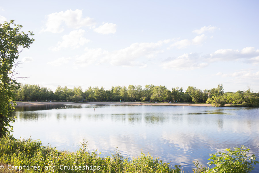 reservoir in st malo provincial park and campground