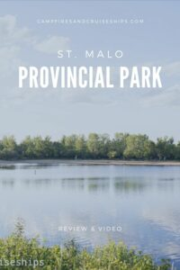 st malo provincial park title image with white text