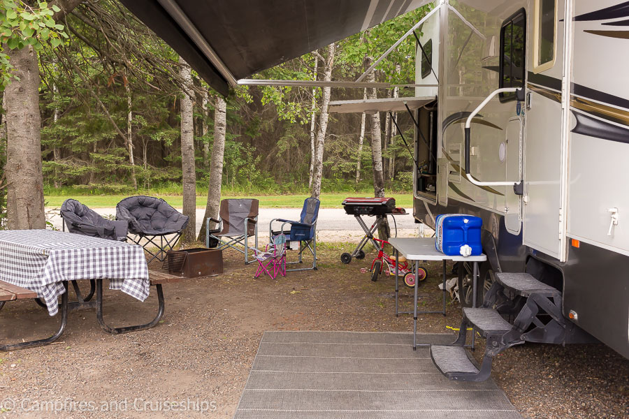 campsite at falcon beach campground in falcon lake