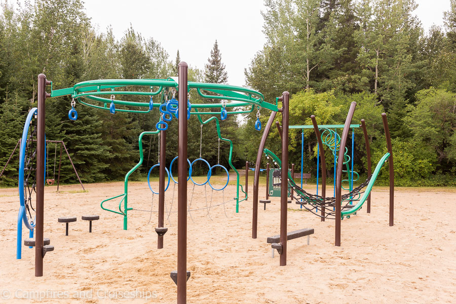 playground at falcon lake in whiteshell provincial park