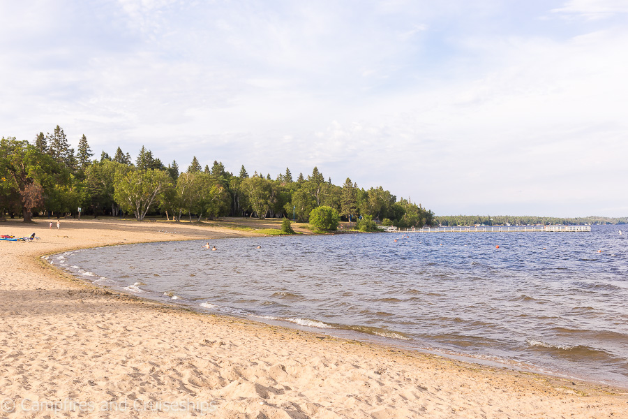 beach at falcon lake in manitoba
