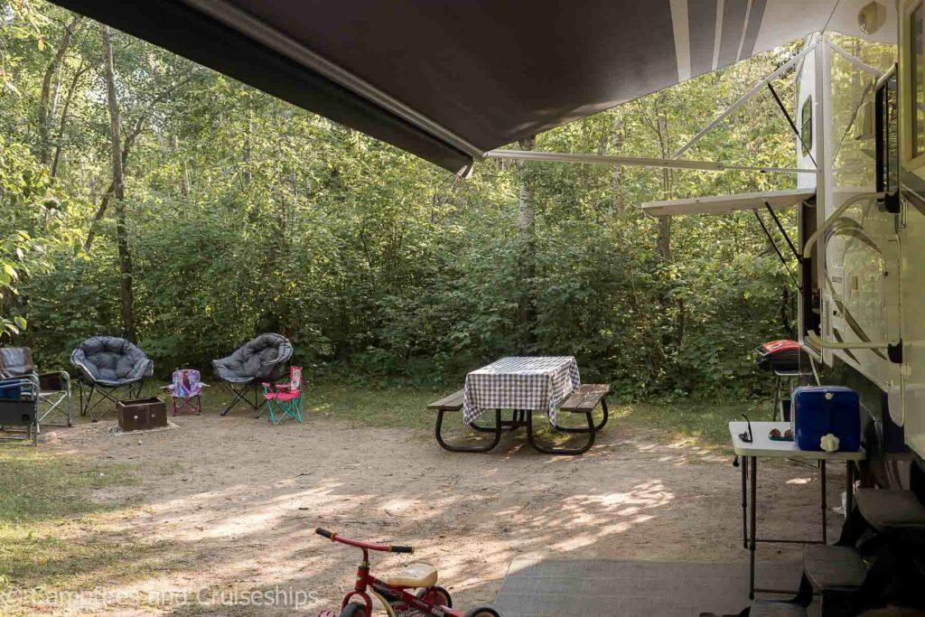 campsite in bay 14 at grand beach manitoba