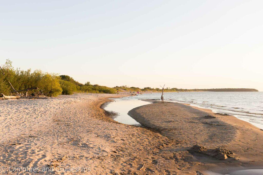 east beach at grand beach campground manitoba