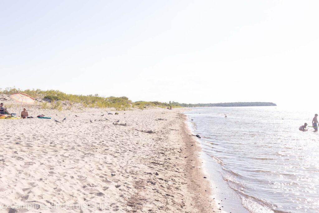 east beach at grand beach manitoba