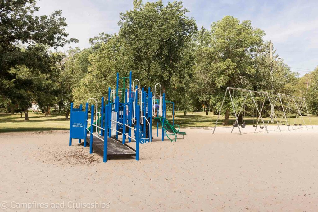playground at west beach in grand beach