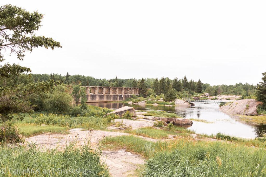 pinawa dam provincial park in manitoba canada