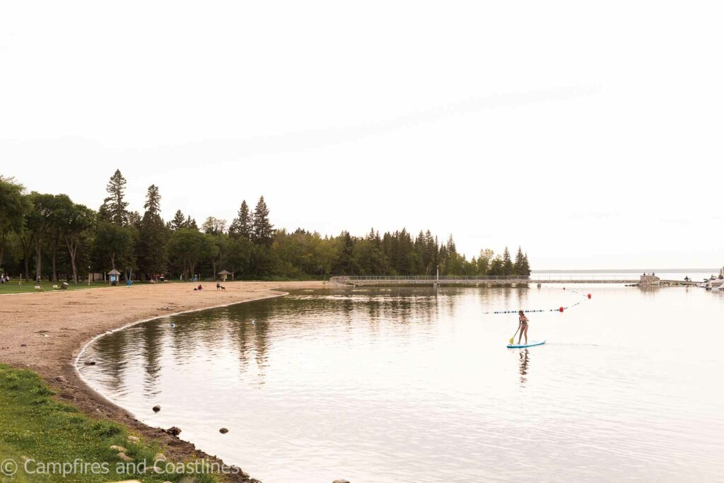 clear lake beach in wasagaming manitoba
